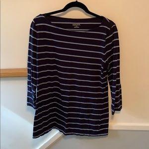 bundle of 4 long-sleeved, striped shirts